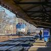Amtrak New Yorkbound Keystone Train 670 heads Bryn Mawr Station on the Harrisburg Line.