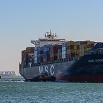 MSC Ilona arrives in Boston on cold March Morning